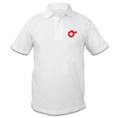 OW-white polo pocket logo w/back