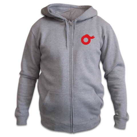 OW zip hoodie gray w/back - Orchestra Wellington Shop